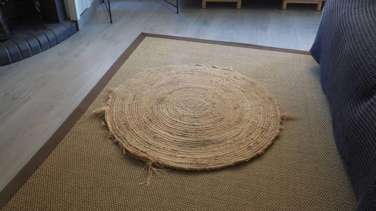 restaurar alfombra con cuerda de yute