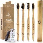 Pack 4 Cepillos de Dientes Bambú e Hilo Dental | Greenzla