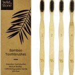 Pack 4 cepillos de dientes bambú   Wild & Stone