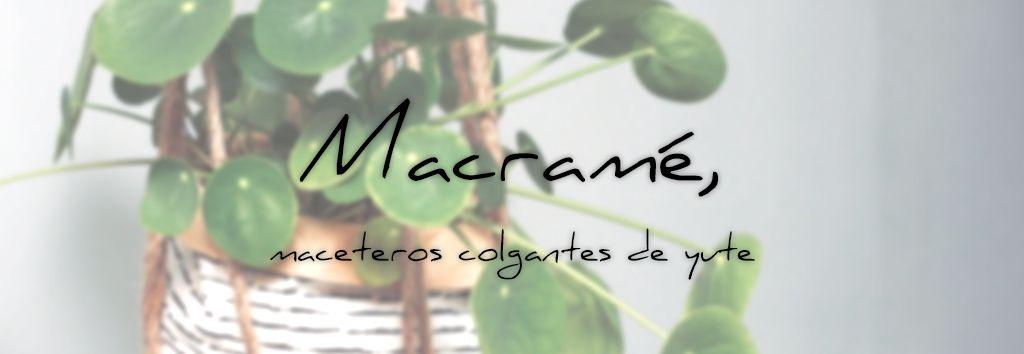 Macramé, maceteros colgantes de yute | Photo by Sven Brandsma | Unsplash