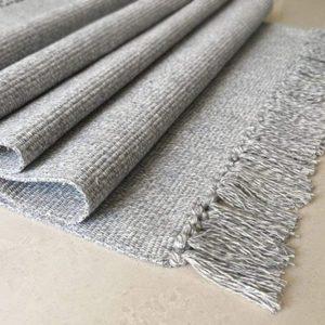 Alfombra de Algodón gris | 60x90cm